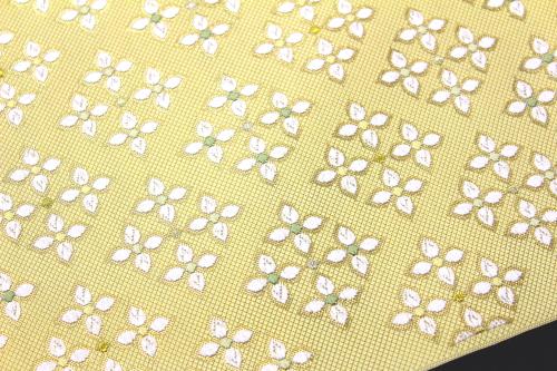 西陣織 ふくい謹製 九寸名古屋帯「花菱詰」