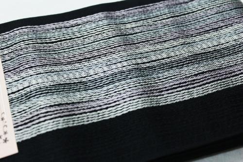 本場筑前博多織小袋帯「細よろけストライプ」