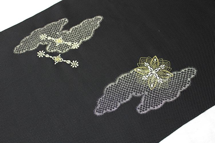 最高級九寸名古屋帯「刺繍 菱華紋」