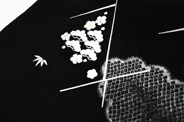 最高級九寸名古屋帯「刺繍 菱取に小花亀甲」