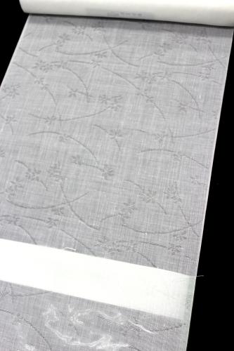 トスコ麻混夏物長襦袢「薄に蘭」