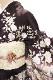 正絹訪問着 レンタルフルセット「刺繍 流水に枝花」