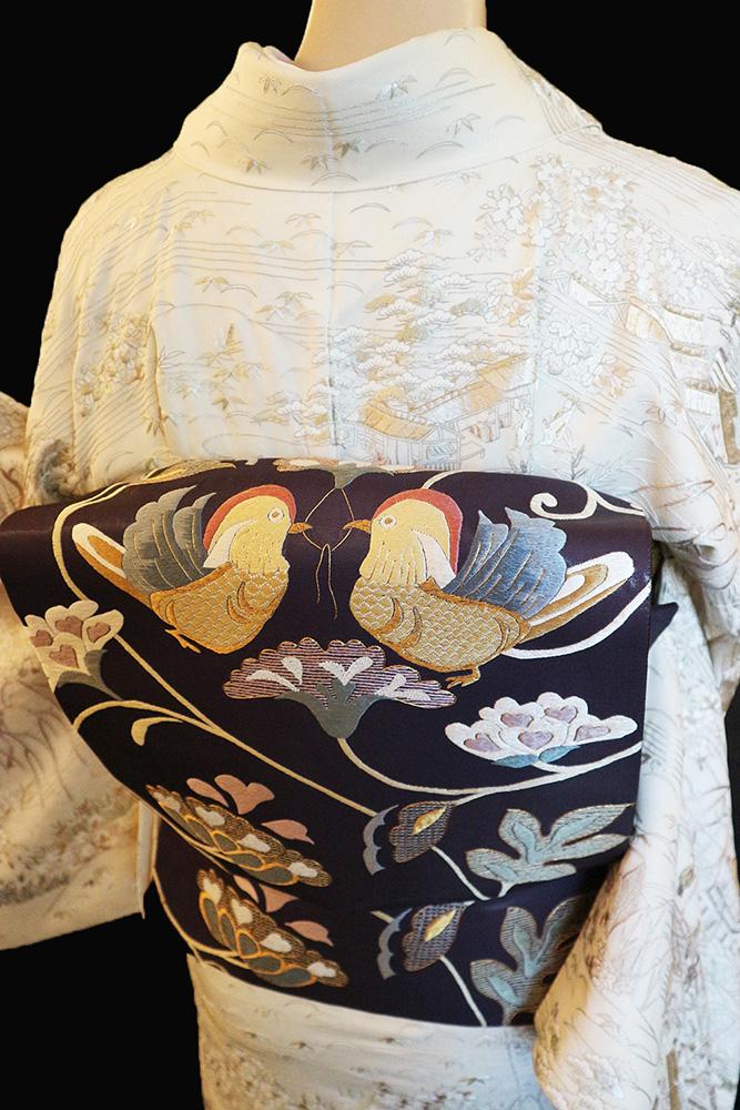 正絹訪問着 レンタルフルセット「総柄刺繍 茶屋辻」