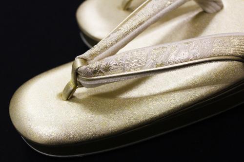名門紗織謹製 礼装用草履「金に金銀鼻緒 Sサイズ」
