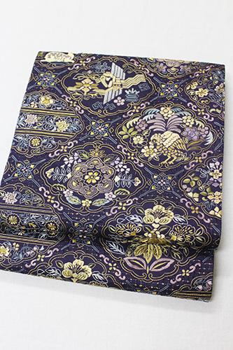 最高級袋帯「汕頭蘇州刺繍 菱桐華紋」