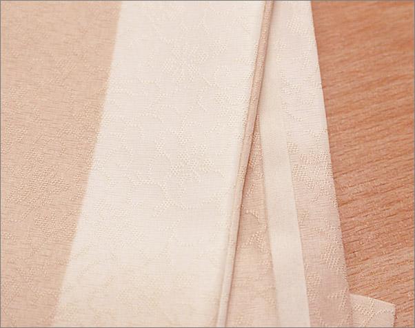 洗える着物(袷・小紋) Lサイズ  16-64. アイボリー×赤香色系の市松柄