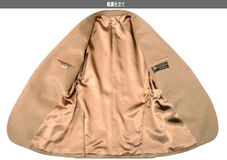 訳あり カシミヤ100% ジャケット LoroPiana ロロピアーナ メンズジャケット 秋冬 2ツボタンジャケット キャメル テーラードジャケット ゴルフジャケット