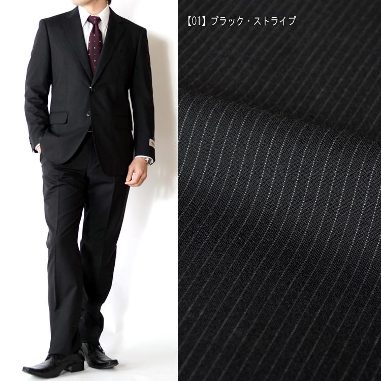 スーツ 春夏メンズスーツ ベーシックモデルスーツ WOOL素材 3color A体 AB体 BB体 2ツボタンスーツ ビジネススーツ