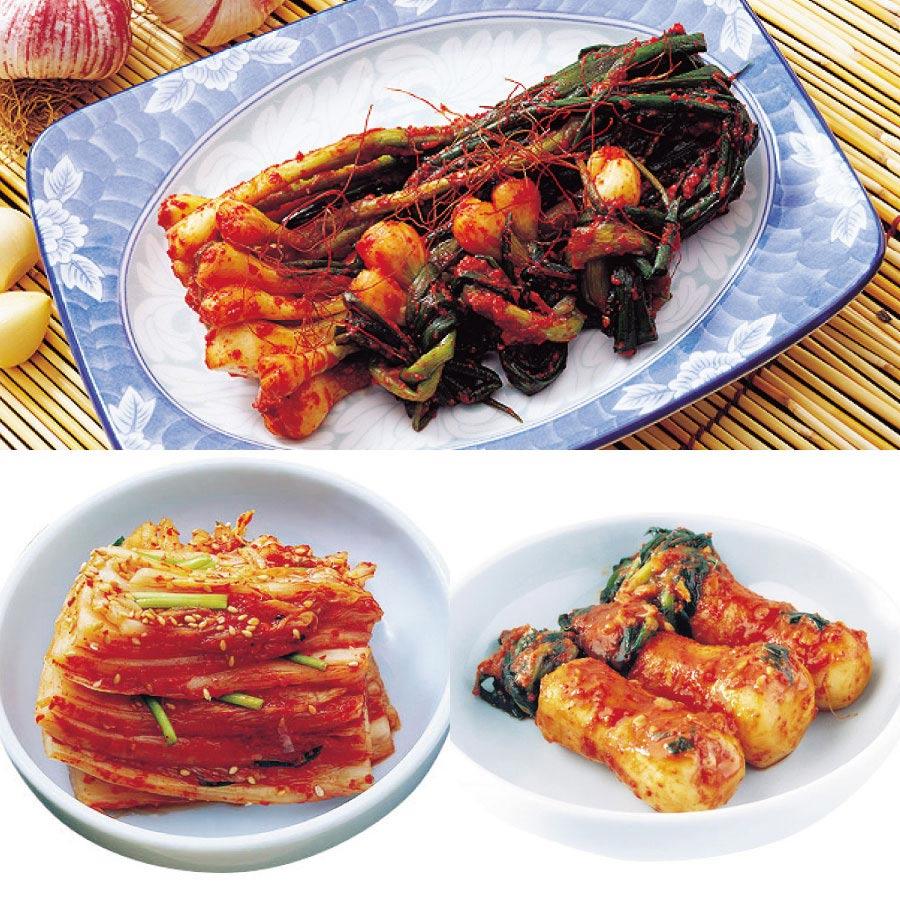 ふる里おすすめ3品(白菜カット、チョンガ、ネギ)