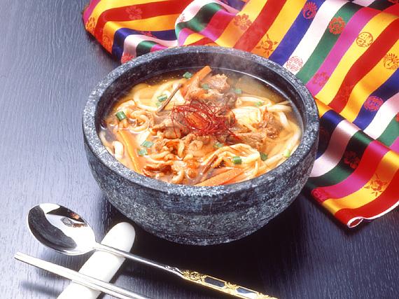 業務用・韓国うどんユッケジャンスープ味5食&塩カルビスープ味5食セット(計10食)【常温・冷蔵・冷凍可】【送料無料】