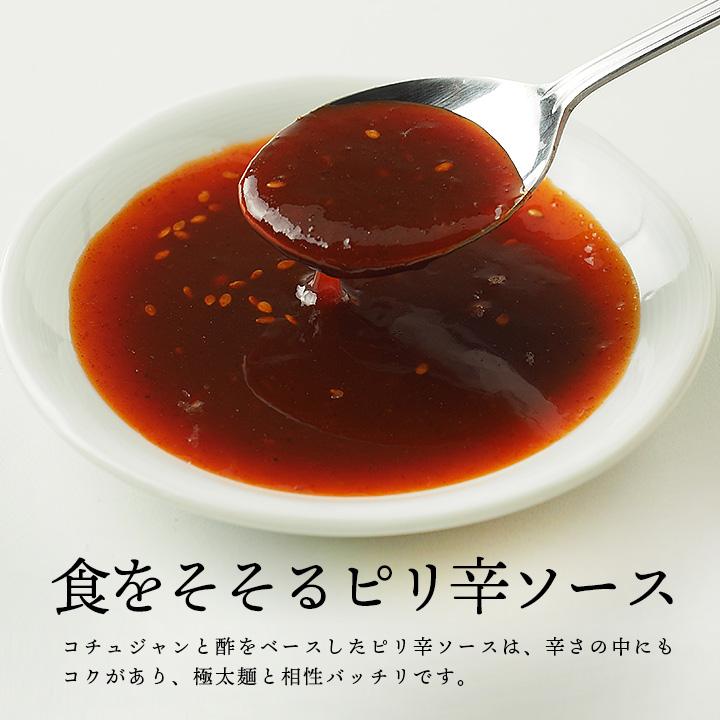 宋家のチョル麺2食セット(麺160g×2・ソース60g×2)韓国冷麺やピビム麺がお好きな方は是非お試しください。 常温便・クール冷蔵便可