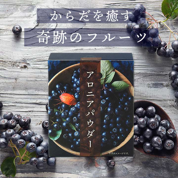 アロニアパウダー45g(1.5g×30包) 常温便・クール冷蔵便・冷凍便可
