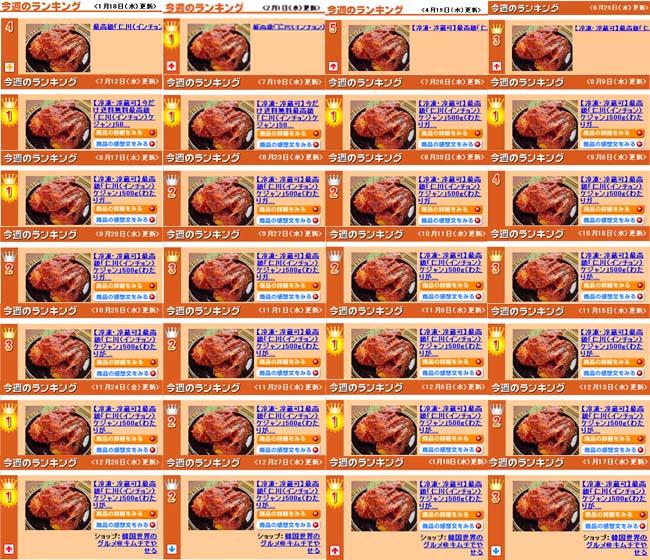 直木賞作家推薦品「仁川ケジャン(インチョン・ケジャン)」400g(わたりがに肩身4〜8切れ入り)【冷凍限定】