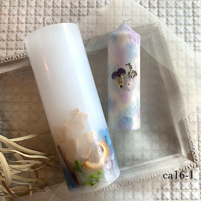 【kinariオリジナル】 candle time set ボタニカルキャンドル2本セット