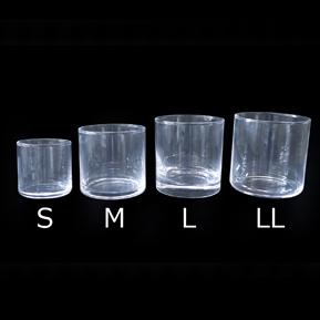 【仕様が変わりました!】キャンドル用 グラス 円形タイプ サークルLL(シンプルグラスLL)【1個:6個:12個:48個 フィルム別売り】