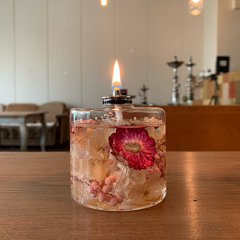 【kinariオリジナル】 candle time set ボタニカルオイルランプ(b) 専用オイル付き