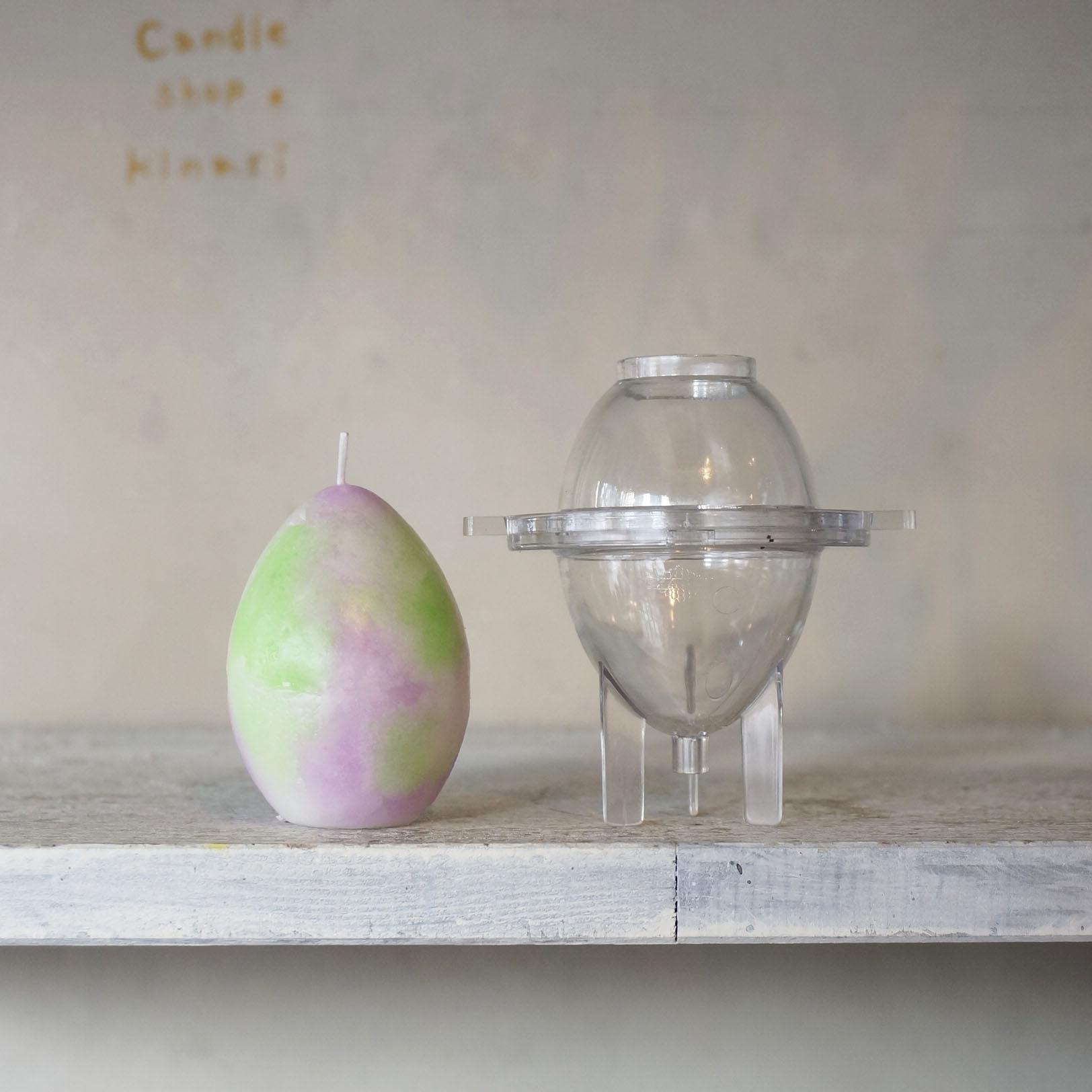 モールド(ポリカーボネイド型)卵 高さ6.5cmx直径4.7cm