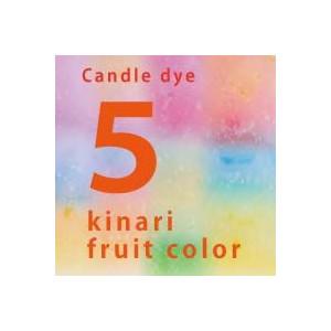 kinari Fruitsカラー染料5色セット(オレンジ・ハニーデューメロン・クランベリー・ラズベリー・レーズンブラウン)