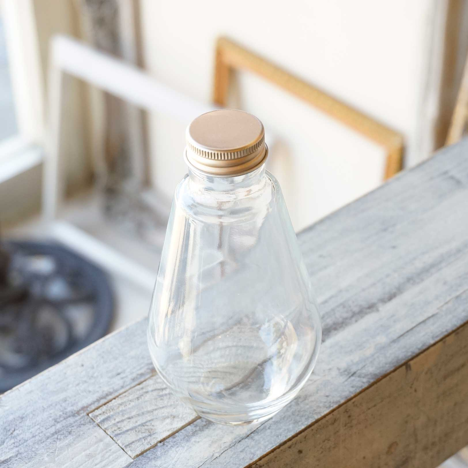 ハーバリウム瓶 オーバル218ml フタ付き【1個:10個:30個(取り寄せ)】