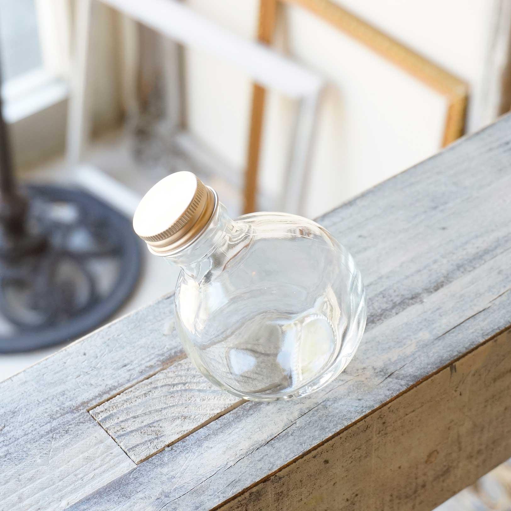 ハーバリウム瓶 サークル117ml フタ付き【1個:10個:72個(取り寄せ)】