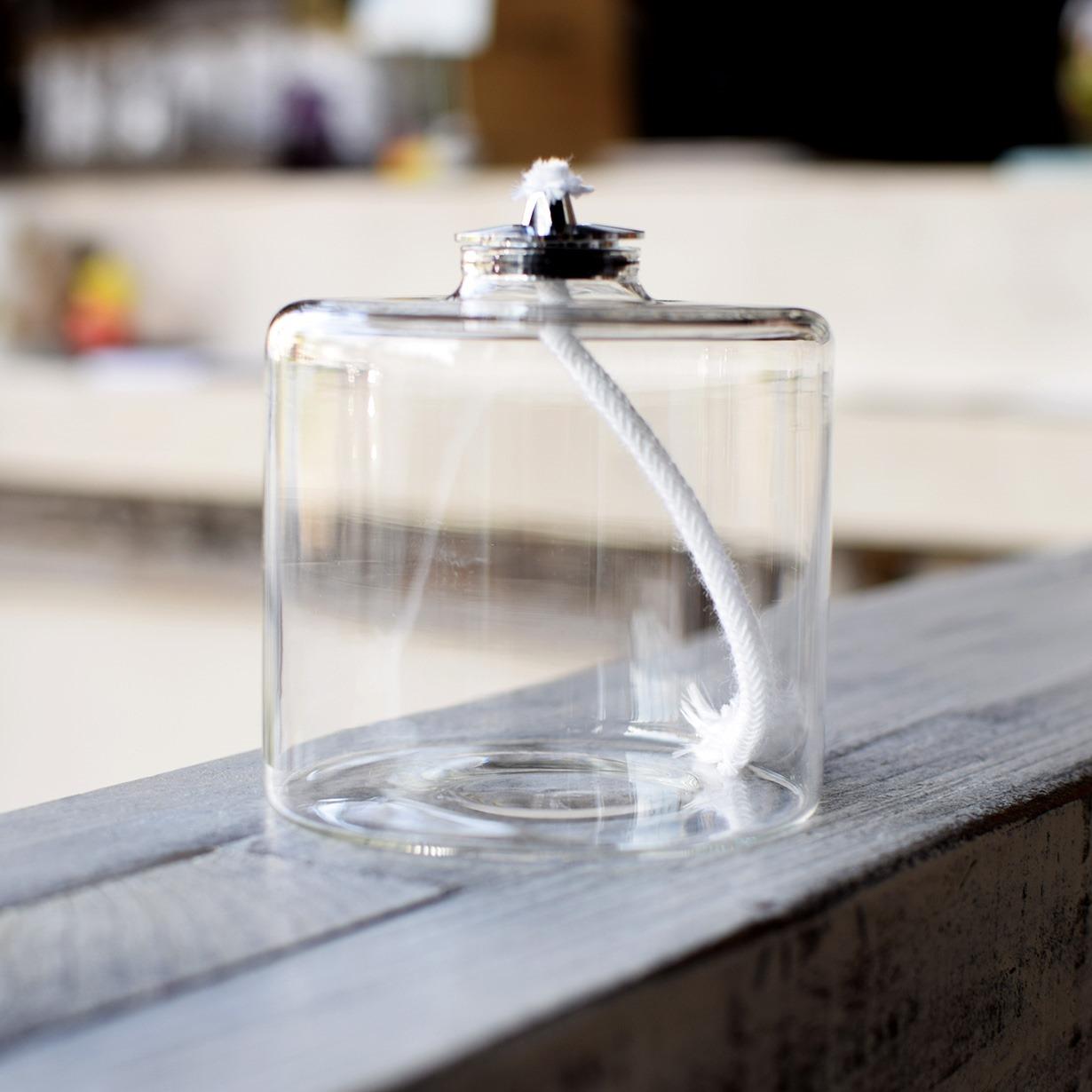 オイルランプ専用 ガラス容器 燃焼時間42時間タイプ1個 φ72×H72