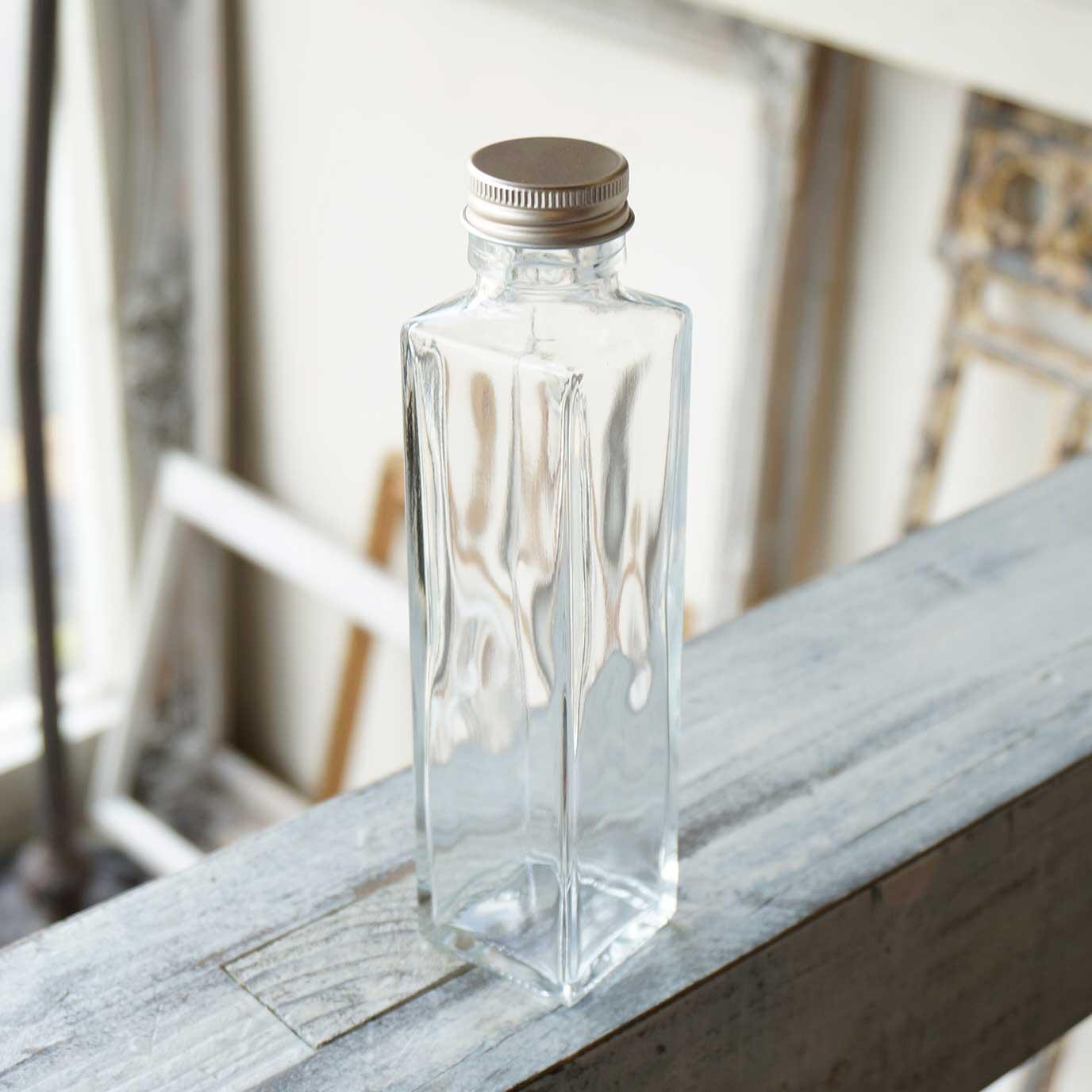 ハーバリウム瓶 スクエア164ml フタ付き【1個:10個:54個(取り寄せ)】