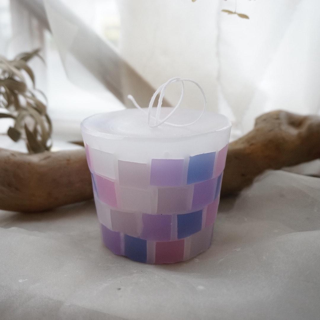 【kinariオリジナル】 candle time set タイルキャンドル 全4色