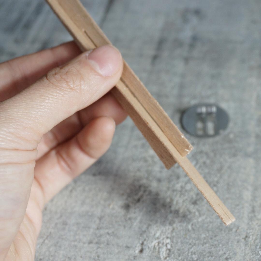 【ウッドウィック】木製芯 クロスタイプ 13mm×130mm (専用座金付) 【6本セット:20本セット】