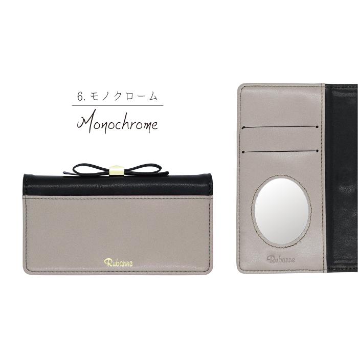 AQUOS sense SH-01K / SHV40 / AQUOS sense lite SH-M05 用 エレガンテ・リボン 手帳型ケース