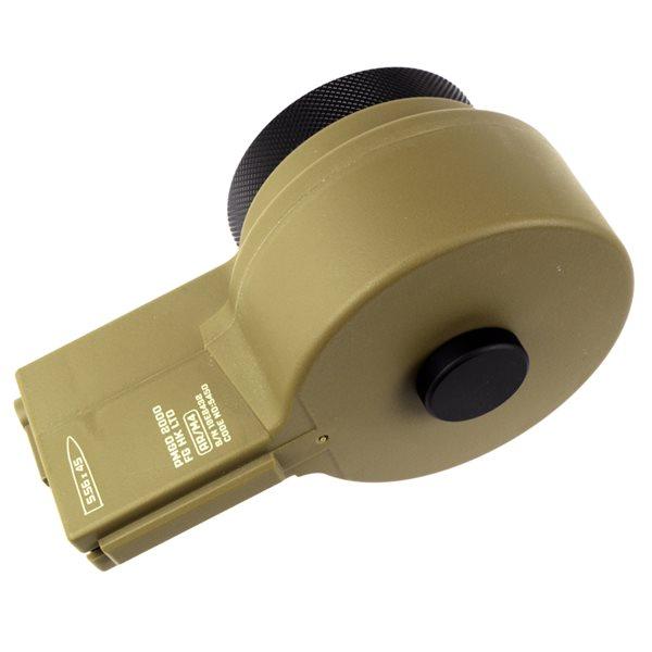 ARES 電動M4用 2150連 ドラムマガジン(手動給弾式) デザートカラー