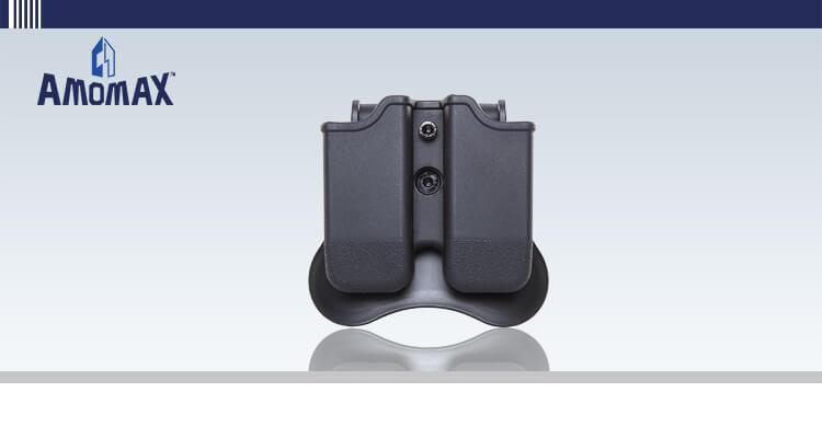 AMOMAX ダブルマガジンポーチ (グロック 用) ブラック