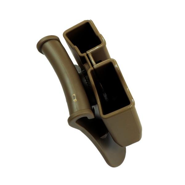 AMOMAX ダブルマガジンポーチ (P226、ベレッタM9、CZ P-09 用) デザートカラー