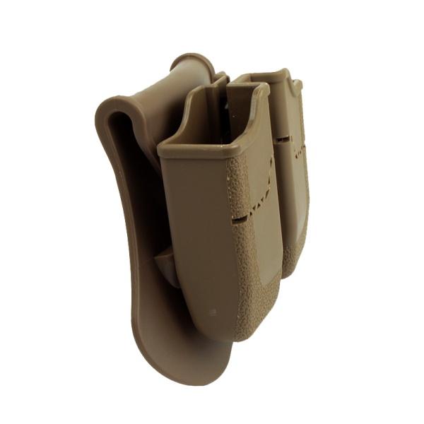 AMOMAX ダブルマガジンポーチ (ベレッタPX4、H&K P30、USP 用) デザートカラー