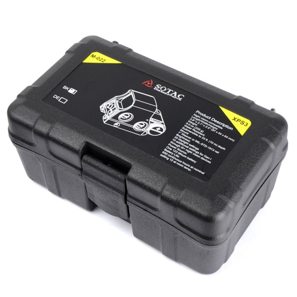 SOTAC XPS3 タイプ ドットサイト スクリューマウントver. ブラック