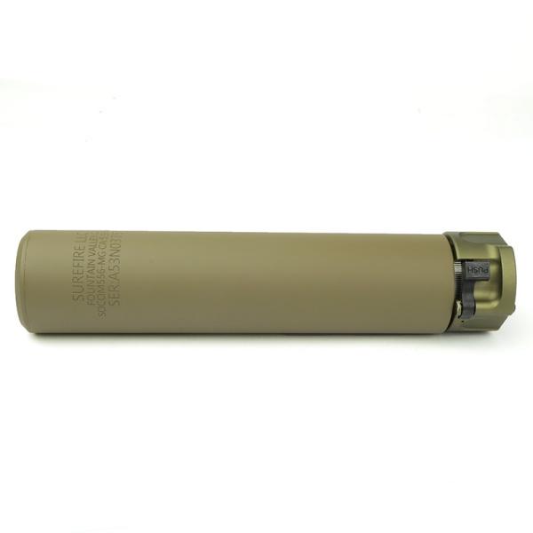 KINWA x 5KU トレーサー内蔵 SF SOCOM556-MG タイプ サプレッサー & ハイダー (14mm逆ネジ) デザートカラー