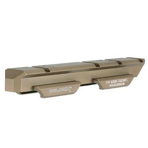 SOTAC製 WILCOX タイプ CNC サイド フリップ マウント with ライザーマウント デザートカラー