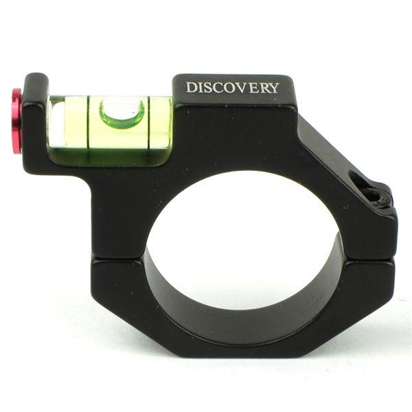DISCOVERY 水平器付スコープマウントリング ブラック