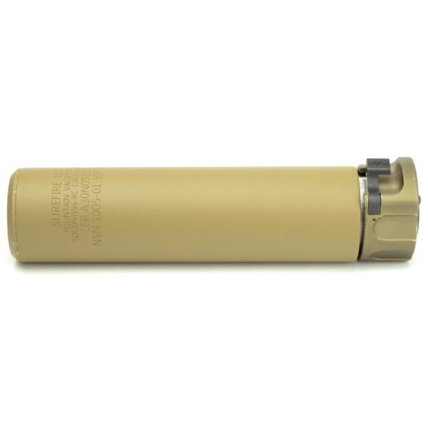 5KU トレーサー内蔵 SF SOCOM556-RC タイプ サプレッサー & ハイダー (14mm逆ネジ) デザートカラー