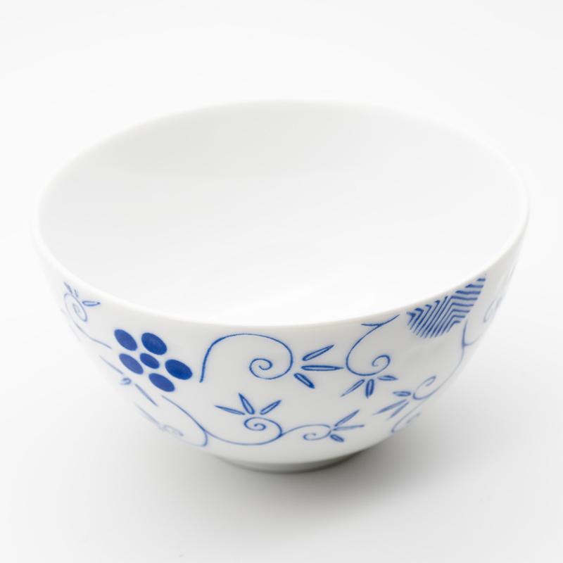 [KIRA KARACHO × Noritake]松竹梅唐草 茶碗