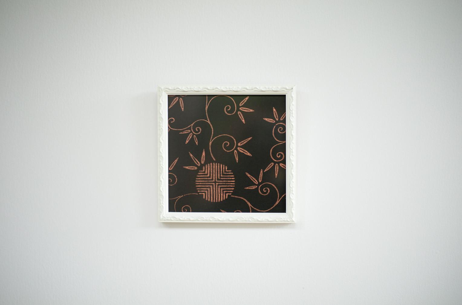 kira額(アートパネル)/松竹梅唐草(0122)