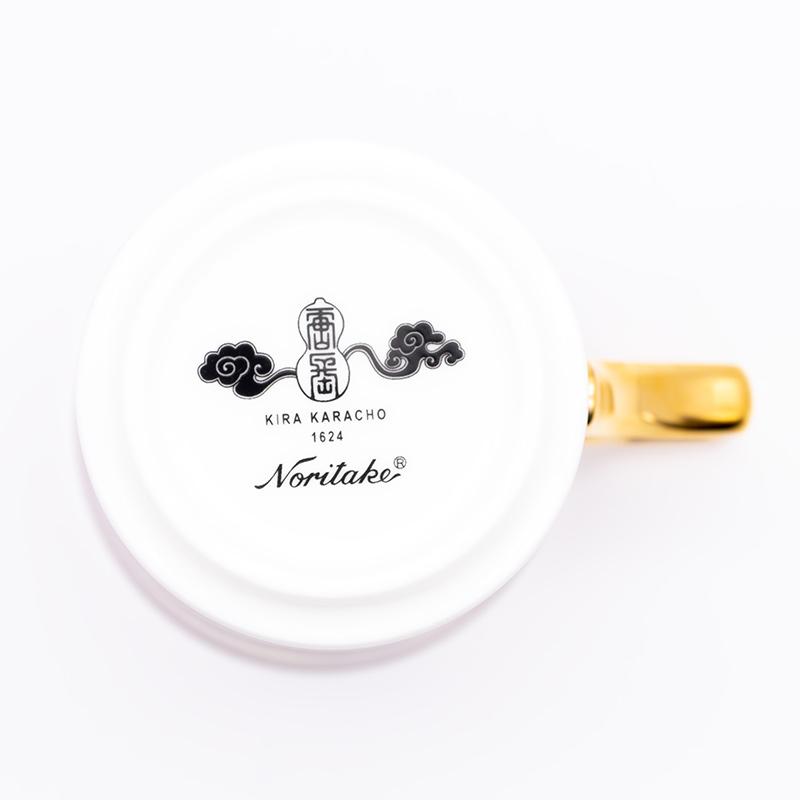 [KIRA KARACHO × Noritake]天平大雲 マグカップ (白)