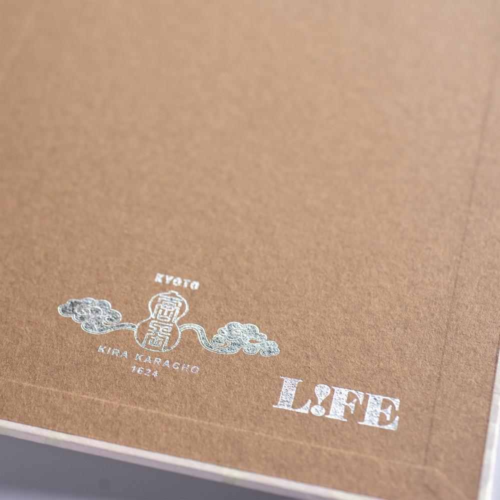 唐紙ノート(大牡丹)