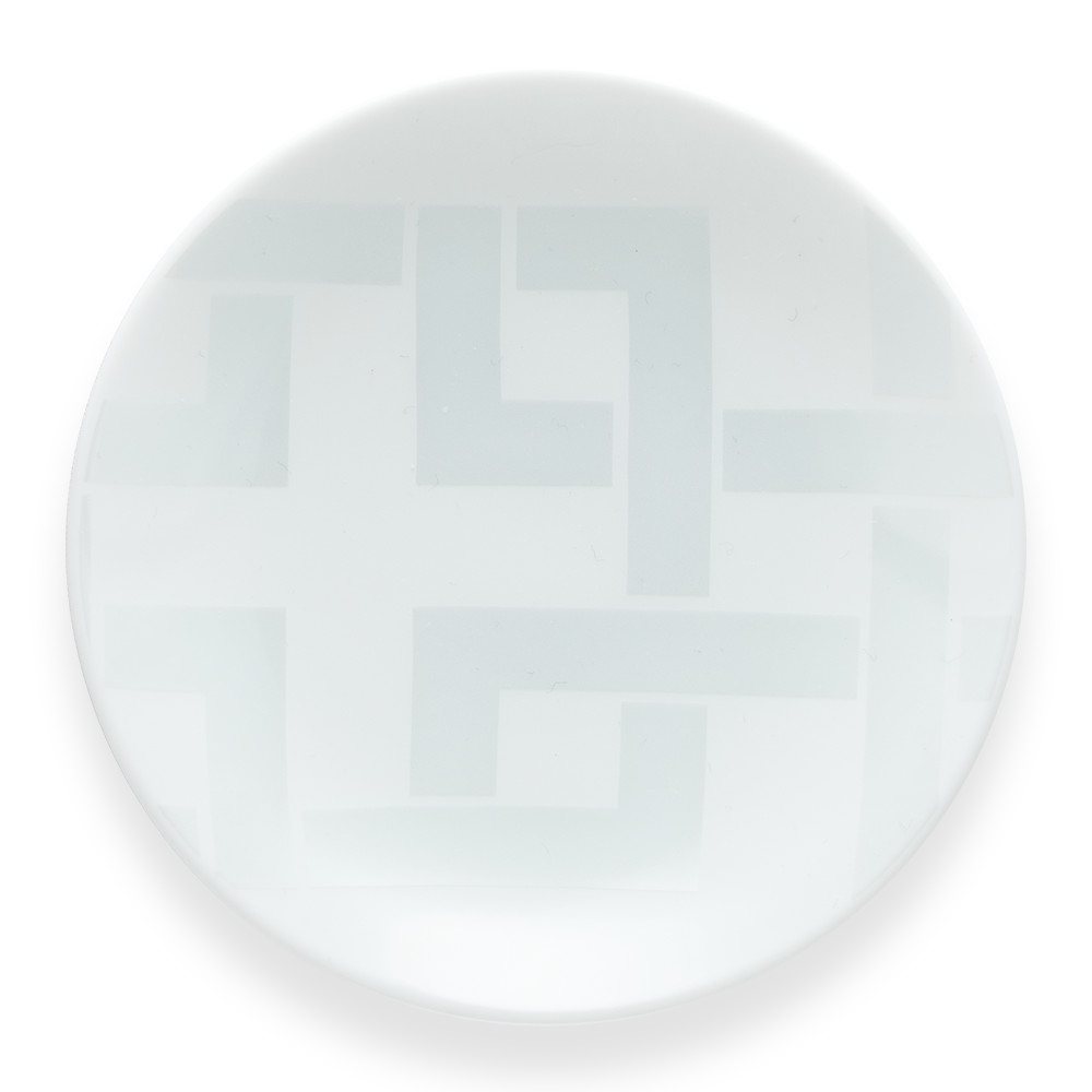 唐長文様 豆皿 角つなぎ(ホワイトとキラ)