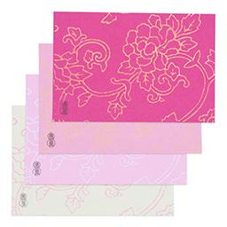 [数量限定]唐長文様 手摺ポストカード 4枚セット