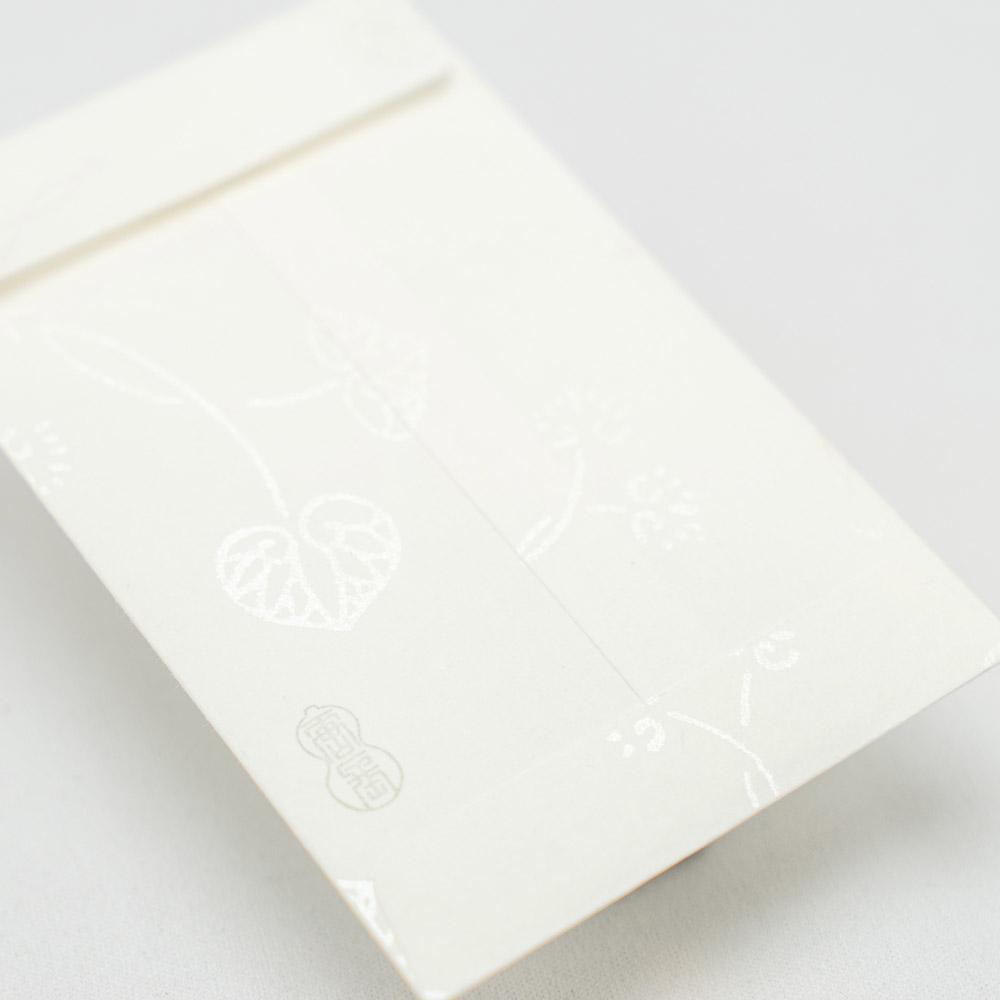 唐長文様 キラぽち袋 双葉葵(ホワイト)
