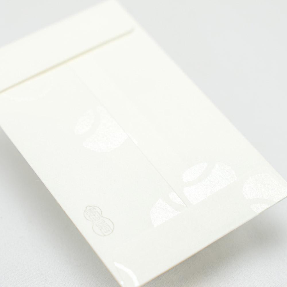唐長文様 キラぽち袋 つぼつぼ(ホワイト)