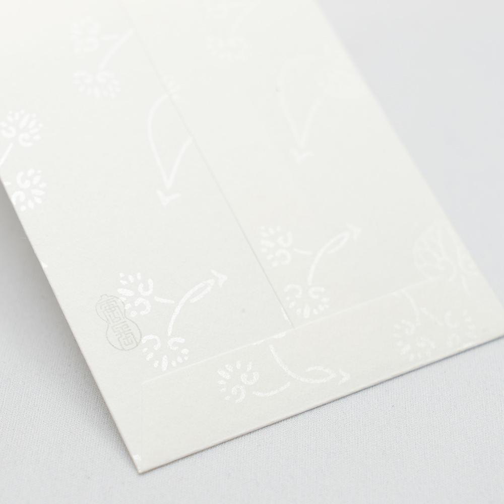 唐長文様 キラのし袋 双葉葵(ホワイト)