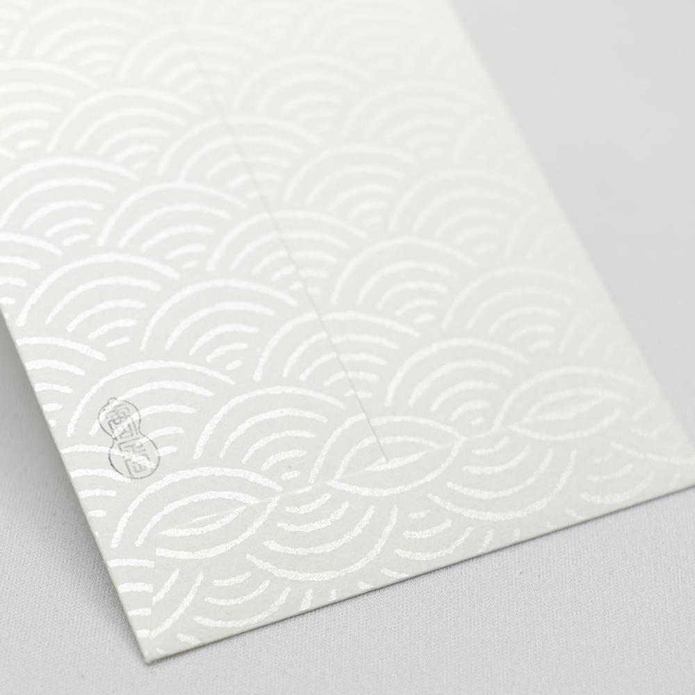 唐長文様 キラのし袋 青海波(ホワイト)