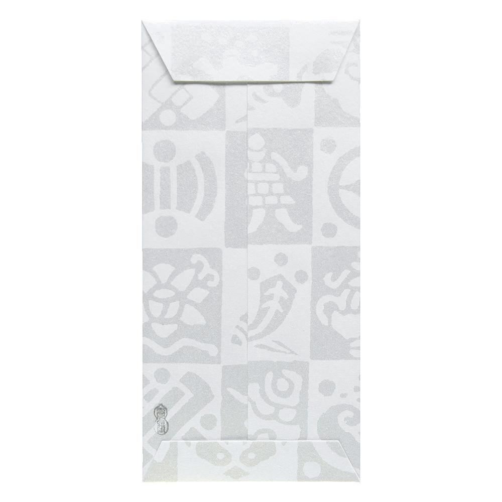 唐長文様 キラのし袋 宝尽くし(ホワイト)