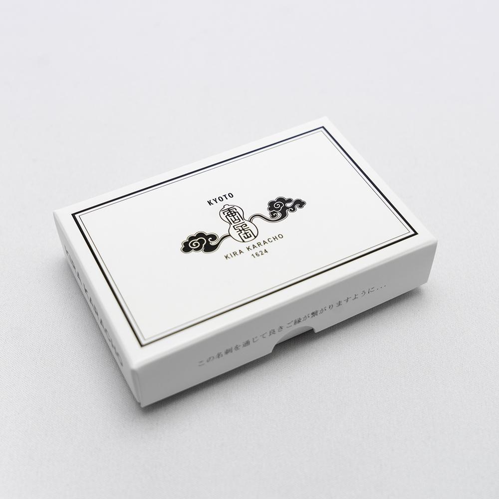 唐長文様名刺/瓢箪唐草(ホワイト)箱入